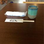 54162130 - そば茶とオシボリ