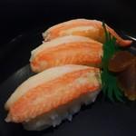 かに道楽 - 連れのコースのかにのお寿司