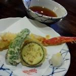かに道楽 - ズワイは天ぷらで。