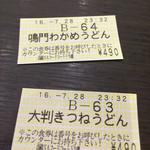 54163585 - 券売機で買った食券