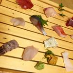 とんかつ武蔵 - この日の刺身盛り合わせ一人前 金額は分かりませんw どれも鮮度が高くレベル高いです。