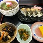 道の駅若狭熊川宿 四季彩館 - 焼き鯖寿司セット(1400円)(2016.07現在)