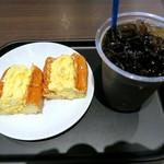 カフェカルディーノ - モーニングセット( エッグサラダドッグ)¥500