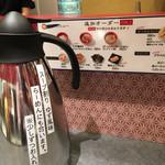 つけ麺や 武双 - スープ割は柚子風味