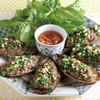 パーナ貝の肉詰め、葱油ソース(1個)