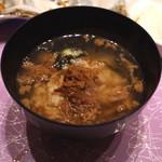 神楽坂 翔山亭 黒毛和牛贅沢重専門店 - お茶漬けにして