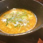 濃厚鶏白湯ラーメン 美空 - 濃厚鶏つけ麺 黒 800円