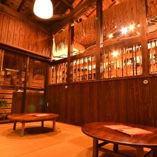 沖縄に心から浸れるカフェスペースでゆったりまったりと♪