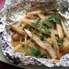 白身魚のホイル焼き、レモングラス風味