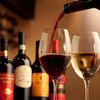 trattoria イタリアン SATOMI fooding - ドリンク写真:ワインは常時40種類以上! 問屋から直接買い付け