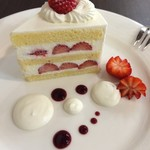 K's cafe  - イチゴのショートケーキ