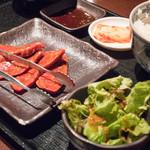 一頭買焼肉 醍醐 - 2016.7 ハラミ定食(1,080円)