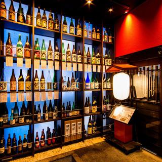 47都道府県の日本酒・焼酎・ワイン計100種類以上!