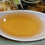 むろまち鳥や - むろまち 鳥や @三越前 冷やしラーメン 「博多のあん」様 リスペクト画像 出汁が効いたさっぱり味の冷たいスープ