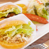 マミーポッポ - 料理写真:ぽっぽランチ『自家製パンのハンバーガープレート』