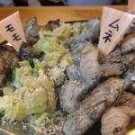 名古屋柳橋 のりのり酒場 - 名物!!黒煙炙り 備長炭にて奥三河鶏を炙ります