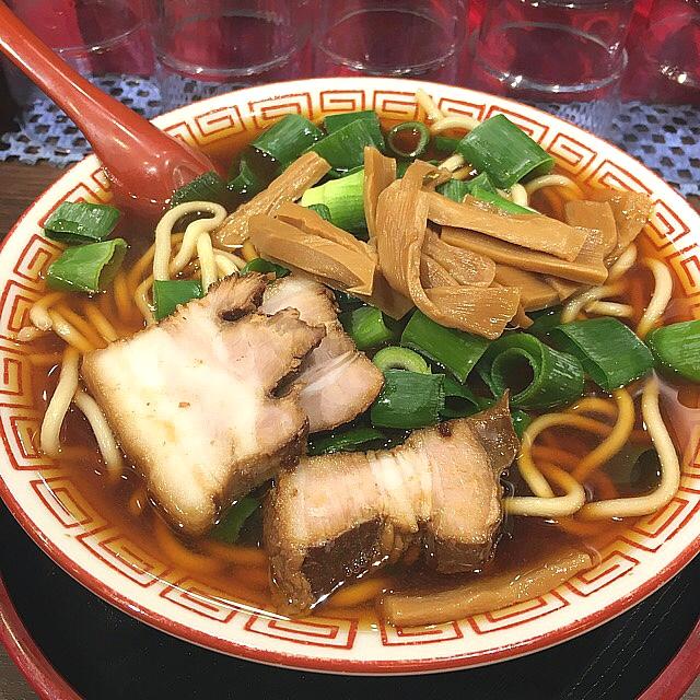 麺屋7.5Hz 新橋店 - 中華めん(中)ちょっとしょっぱいが結構好き(^_^) ストレート太麺も良い感じですね‼️