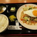宮本むなし - 肉野菜炒め定食 650円