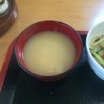 ひまわり食堂 - 味噌汁。