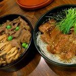 浅草今半 - 二段重(ステーキ&百年牛丼)