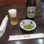 千利庵 - 瓶ビール・お通し(2016/7)