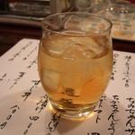 おでん 盛 - 梅酒ロック 2016.7