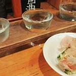 54206007 - H28.7 日本酒飲み比べ3種とお通し