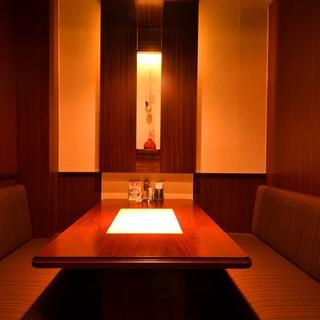 「テーブル個室」「お座敷個室」各種。2名様からご案内できます