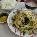 つけ麺大王赤羽店 - 野菜炒め定食