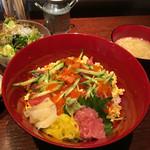 54210977 - 海鮮ばらちらし丼セット800円