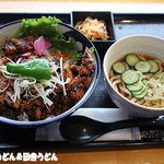 54211244 - 厚切りぶた丼(小うどん冷付き)