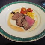 ikra - イベリコ豚のヒレ肉のグリルハチミツとレモンのソース