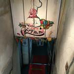 パスタmama - B1への階段を下りると('16/07/30)