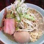 ラーメン 岩佐 - 太麺野菜ラーメン 2016.7