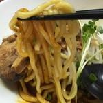 極担々麺 真空 - 【2016.7.22】モッチリ太麺。
