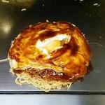 お好み焼き ロンちゃん - 中央部の玉子の状態分かりますか?