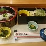 万両寿し - ミニづけマグロ丼セット 750円