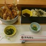 万両寿し - ミニ天丼セット 750円