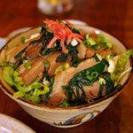 沖縄料理 琉球 - 三枚豚丼(750円)