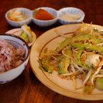 沖縄料理 琉球 - ゴーヤチャンプル御膳(800円)