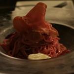 イタリアンかき氷 シロッポ - 赤ももの冷製パスタ