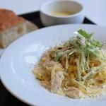 MU GARDEN TERRACE - HOLIDAY LUNCH パスタ(鶏ムネ肉ととうもろこしのクリームソース)