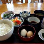 道の駅 ビオスおおがた ひなたや - 卵かけごはん600円