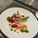 ホテルオークラレストラン 鉄板焼き さざんか - 太刀魚のマッシュポテトはさみ焼き