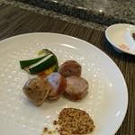 ホテルオークラレストラン 鉄板焼き さざんか - サルシッチャと夏野菜のひと皿