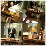 ホテルオークラレストラン 鉄板焼き さざんか - クレープシュゼット 熟練の技です