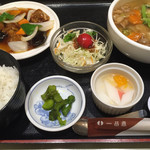 一品香 - 選べる麺セット=980円 五目湯麺・酢豚で注文
