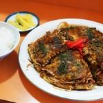 ふじたお好み焼 - 料理写真:モダン焼き定食