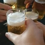 54244623 - ビールで乾杯(^-^)/