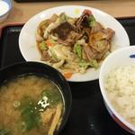 Matsuya - スタミナ 肉野菜炒め定食